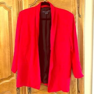 Size 12 red blazer French Connection